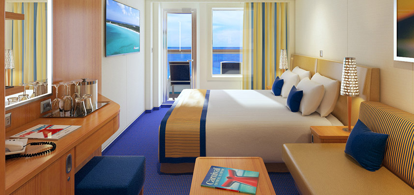 Balcony Stateroom on a cruise ship