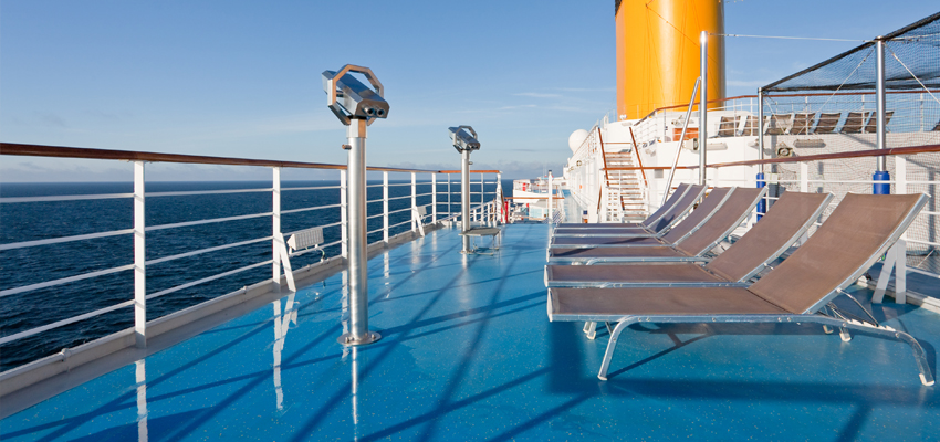 Sun Deck on a cruise ship